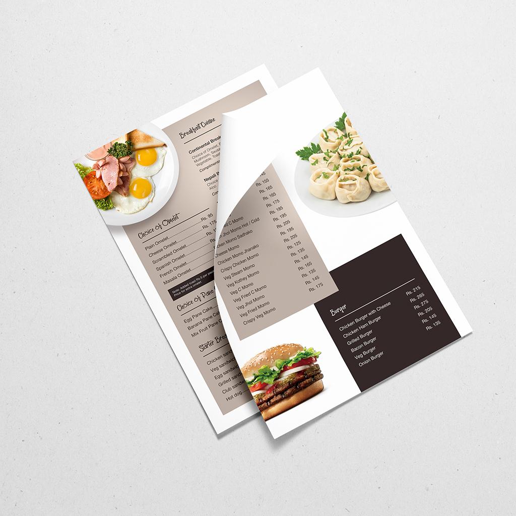 Menu Design, Subarna Design