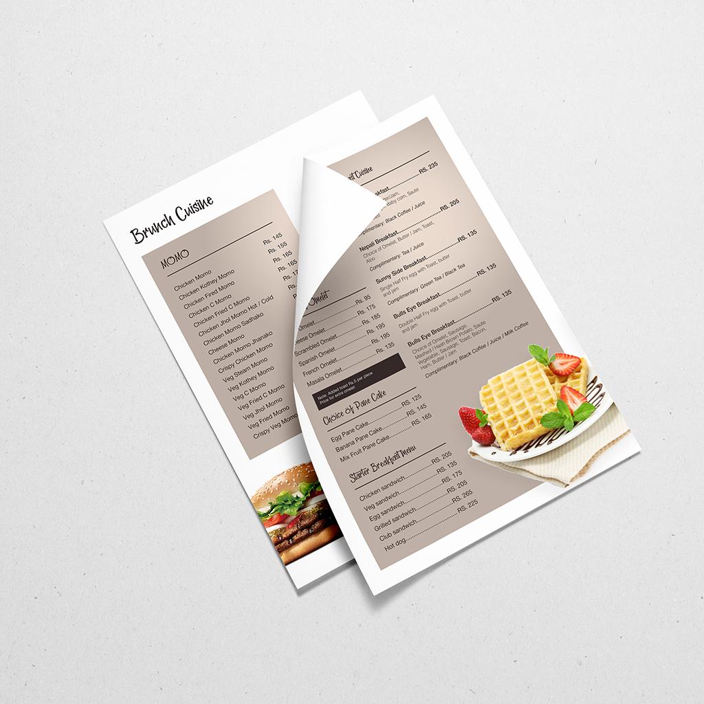 Subarna Design , Menu Design