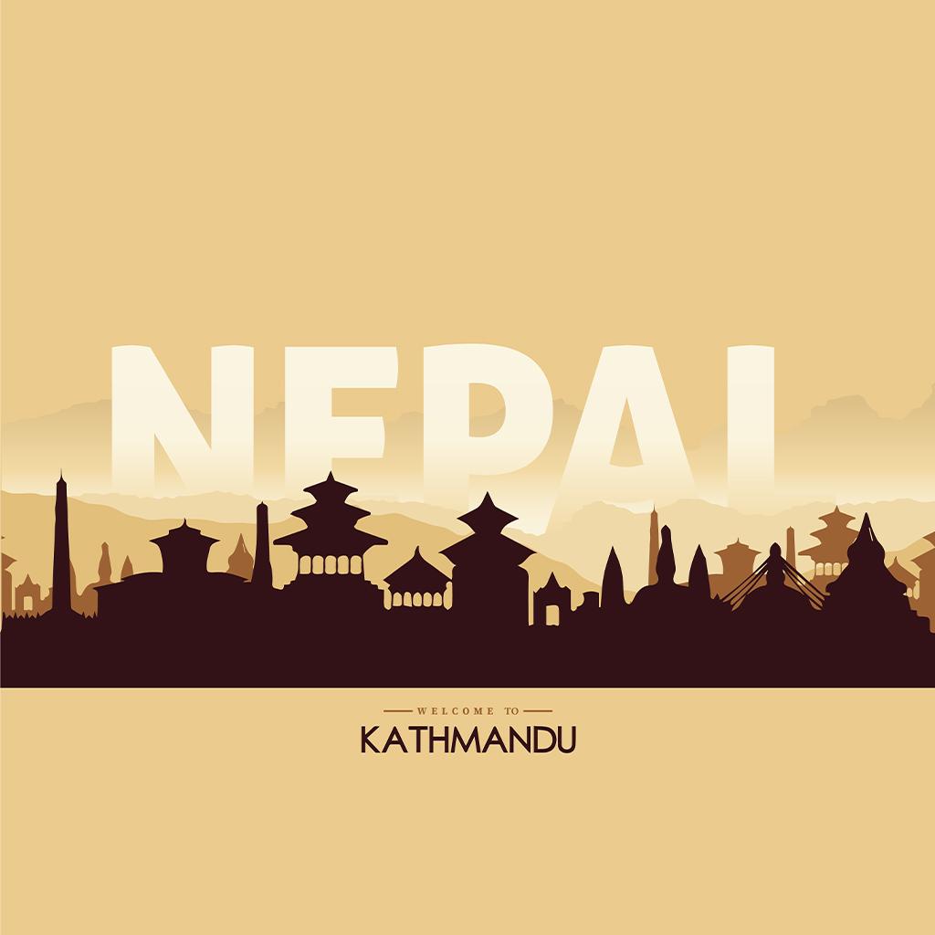 kthmandu Nepal Illustaration By Subarna Bhandari